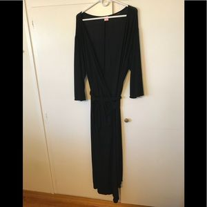 Long Black Wrap Dress